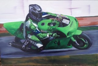 Colin Mark Mowat; Green Meanie, 2015, Original Painting Oil,   inches.