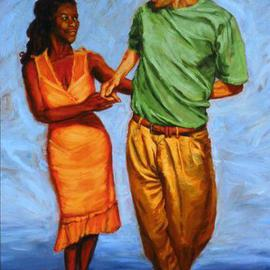 Lucille Coleman, , , Original Painting Oil, size_width{Two_Handed_Salsa_Dance-1501251644.jpg} X 46 inches