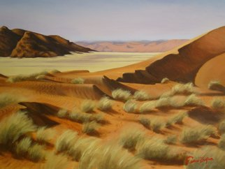 Colleen Balfour; Namibia Dunes 1, 2013, Original Painting Oil, 90 x 76 cm. Artwork description: 241 A vista in Soussusvlei, Nambia inspired during a trip there in 2011.   The dunes, windswept grasses, rocky hills untouched by time or man.  ...
