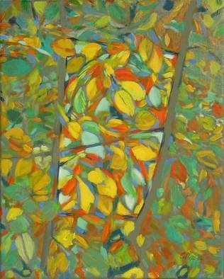 Bernard Collet; Spring Window, 2005, Original Painting Acrylic, 33 x 41 cm.