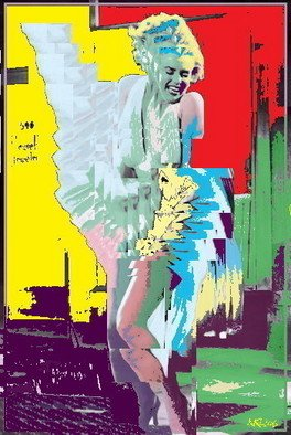 Marc Rubin; Marilyn Electric Boogaloo, 2007, Original Digital Art, 16 x 25 inches. Artwork description: 241 Giclee print on archival paper with pigment inks. With 1