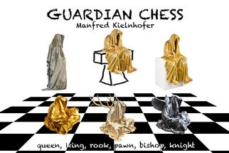 Manfred Kielnhofer; Guardian Chess, 2017, Original Sculpture Ceramic, 16 x 16 inches. Artwork description: 241 rent. masterart. org...