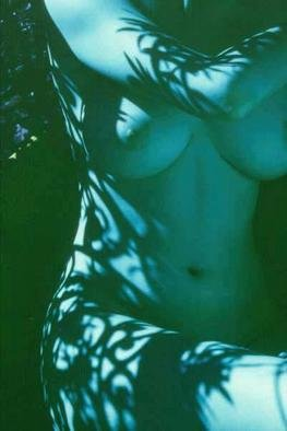 Corrie Ancone; Blue Nude, 2000, Original Photography Color, 24 x 20 inches. Artwork description: 241 Infra Red film....