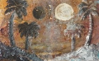 Edward Bolwell; Tropical Eclipse Looming, 2017, Original Painting Acrylic, 31 x 19 cm. Artwork description: 241 Acrylic on MDF...