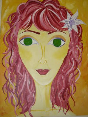 Crisol Velasquez; Pretty Lady, 2007, Original Painting Acrylic, 30 x 40 inches.