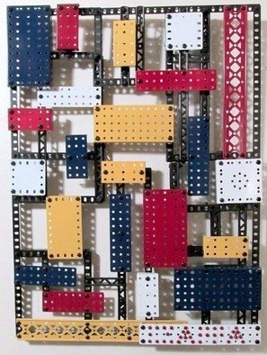 Bill Czappa; Piet Mondrian Erector, 2018, Original Assemblage, 16 x 24 inches. Artwork description: 241 Peit Mondiran s work has been copied by many artist in many styles. I thought I d make on our of Erector set parts. This one has sold but I can make more, they will all look different and can be any size you want. Price will ...