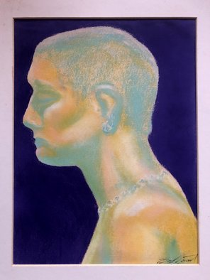 Bryan Mcfarland; Pearl, 1998, Original Pastel Oil, 8.5 x 11.5 inches. Artwork description: 241 Oil pastel in untraditional colors of a woman. ...