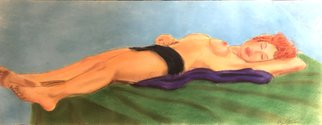 Bryan Mcfarland; Sleep, 1999, Original Pastel Oil, 23.5 x 9 inches. Artwork description: 241 An oil pastel nude of a sleeping model. ...