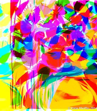 Katie Pfeiffer; Abstract Flower Bouquet , 2014, Original Computer Art, 11 x 14 inches. Artwork description: 241      This is  an original  digital image  created   entirely  on the computer.         (c) Katie Pfeiffer 2014All Rights ReservedPrints available                                                          ...