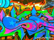 Artist: Katie Pfeiffer's, title: Graffiti Wall Number Two, 2014, Photography Color