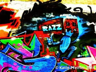 Katie Pfeiffer; Graffiti Wall  Razz Philly, 2014, Original Photography Color, 11 x 14 inches. Artwork description: 241              Part  of a  series- this is a  graffiti wall I took a photograph of  and then digitally altered.  (c) Katie Pfeiffer 2014All Rights ReservedPrints available                                                                  ...