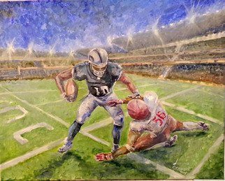 Marina Stewart; Football Game, 2018, Original Painting Oil, 40 x 50 inches. Artwork description: 241 oil paint on canvas...