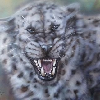Marina Stewart; Leopard, 2019, Original Painting Other, 30 x 24 inches. Artwork description: 241 airbrush acrylic pain on canwas  unframed...