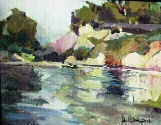 Daniel Clarke, 'Goleta Waters', 2008, original Painting Acrylic, 14 x 11  x 0.2 inches. Artwork description: 9831  Goleta Waters is part of the Artist's California Series of paintings. ...