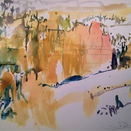 Daniel Clarke, , , Original Watercolor, size_width{bryce_canyon_winter-1554220601.jpg} X 12 inches