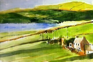 Daniel Clarke, 'Emerald Isle Near Ballyshannon', 2018, original Watercolor, 18 x 12  x 0.1 inches. Artwork description: 4683 Painting: Watercolor on Paper.It s easy to be pleasantWhen life flows by like a song.But the man worthwhile is the one who can smile When everything goes dead wrong.For the test of the heart is trouble,And it always comes with years. And ...