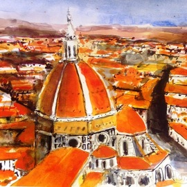 Daniel Clarke, , , Original Watercolor, size_width{florance_environs-1514647390.jpg} X 12 inches