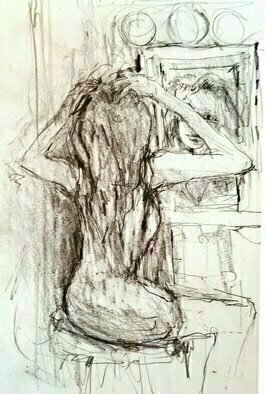 Daniel Clarke, , , Original Drawing Graphite, size_width{in_front_of_the_mirror-1491880831.jpg} X