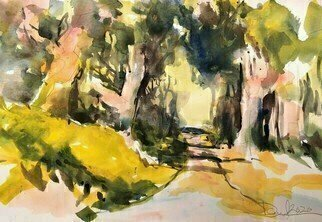 Daniel Clarke, 'Malibu Trail', 2020, original Watercolor, 18 x 12  x 0.1 inches. Artwork description: 1911 Perfection existsin the form of blue eyestwo arm thick waistsand Malibu skiesPerfection existsin thick sultry wordsfree of fallacytoo undeterredWhat is good What is true Is it raw Is it you Away from your screensIs it fleeting  Does it ...