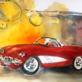 Daniel Clarke, , , Original Watercolor, size_width{my_other_car_is-1504387202.jpg} X 15 inches