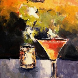 Daniel Clarke, , , Original Painting Acrylic, size_width{saturday_night_drinks_for_one-1488236750.jpg} X 16 inches