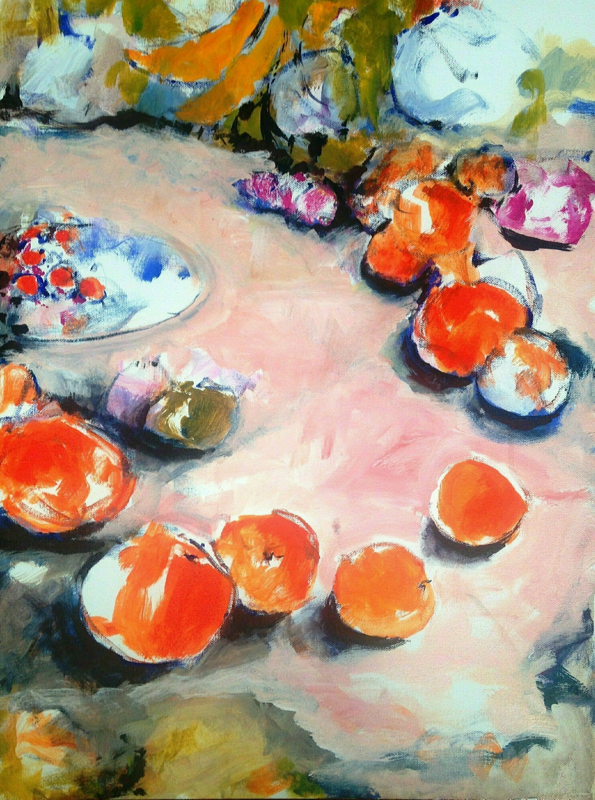 Daniel Clarke, 'Still Life No 23', 2017, original Painting Acrylic, 18 x 24  x 7 inches. Artwork description: 3495 Still Life No. 23 the artist viewing a stunning group of fruit deliciousness in a group singing for dinner. This is the inspiration called for an acrylic celebration. The artist will sign the piece when sold. ...