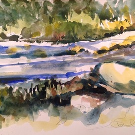 Daniel Clarke, , , Original Watercolor, size_width{stream_of_life-1548346757.jpg} X 12 inches