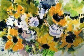 Daniel Clarke; Sunflowers White Roses, 2019, Original Watercolor, 18 x 12 inches. Artwork description: 241 Sunflowers and rosesA unique pair indeedAnd theyaEURtmll blossom for youWhenever you may needYou deserve more than theseA garden of wonderAnd a symphony that playsLike a soothing storm thunderYouaEURtmll shine brighter than theseI know this to be ...