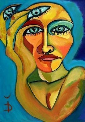 Daniela Isache; Development Of The Sense ..., 2011, Original Painting Oil, 51 x 71 cm. Artwork description: 241     expressionist, woman, portrait         ...