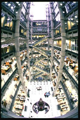 Daniel Rabinovich; Lloyds Of London Building, 2006, Original Photography Color, 24 x 20 inches. Artwork description: 241  Lloyds of London Building, modern architecture     ...