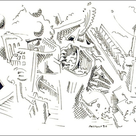 Dave Martsolf, , , Original Drawing Pen, size_width{Architectural_Conflict-1458836440.jpg} X 5 inches