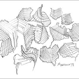 Dave Martsolf, , , Original Drawing Pen, size_width{Architectural_Neurons-1458836481.jpg} X 5 inches