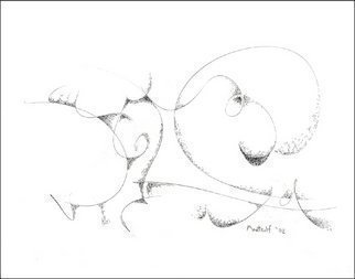 Dave Martsolf, 'Circular Thoughts', 2002, original Drawing Pen, 9.5 x 7.5  inches. Artwork description: 5475  Here is a peaceful little guy. This one is perfect for a child' s bedroom. Yes, not colorful, but so peaceful and inviting for exploration of curved travel, looping, and reflective thought. ...