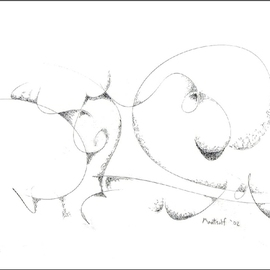 Dave Martsolf, , , Original Drawing Pen, size_width{Circular_Thoughts-1458836580.jpg} X 7.5 inches
