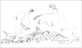 Dave Martsolf, Carnival Surrealism, 2002, Original Drawing Pen, size_width{Examination-1458836803.jpg} X 7.5 inches