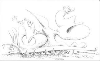 Dave Martsolf, Carnival Surrealism, 2002, Original Drawing Pen, size_width{Heavy_Load-1458836815.jpg} X 7.5 inches