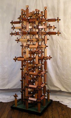 Dave Martsolf, Carnival Surrealism, 2014, Original Sculpture Wood, size_width{Intimacy-1442102257.jpg} X 2 m