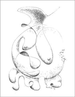 Dave Martsolf, 'Irregular Feminine Vase', 2002, original Drawing Pen, 9.5 x 7.5  inches. Artwork description: 5475  This piece is fairly straightforward. Vases and vessels of all types have often been equated with feminine attributes due to their general roundness and functions as holders of fluid forms. ...