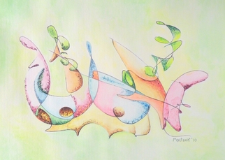 Dave Martsolf, Carnival Surrealism, 2010, Original Watercolor, size_width{Music-1267046967.jpg} X 7 inches