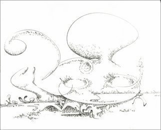 Dave Martsolf, Carnival Surrealism, 2002, Original Drawing Pen, size_width{Octopus-1458836790.jpg} X 7.5 inches