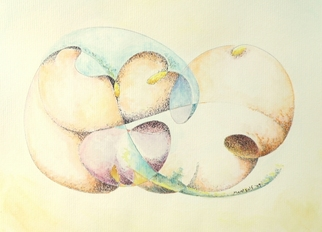 Dave Martsolf, Carnival Surrealism, 2009, Original Watercolor, size_width{Odalisque-1245549452.jpg} X 8 inches