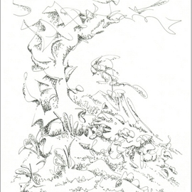 Dave Martsolf, , , Original Drawing Pen, size_width{On_the_Mountainside-1458836363.jpg} X 9 inches