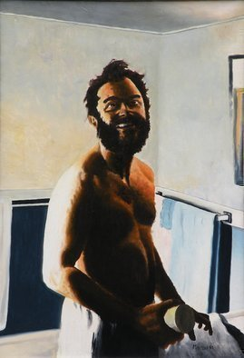 Dave Martsolf, Surreal Shave, 1980, Original Painting Oil,    inches