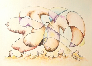 Dave Martsolf, Carnival Surrealism, 2009, Original Watercolor, size_width{The_Caress_of_Memory-1245549289.jpg} X 8 inches