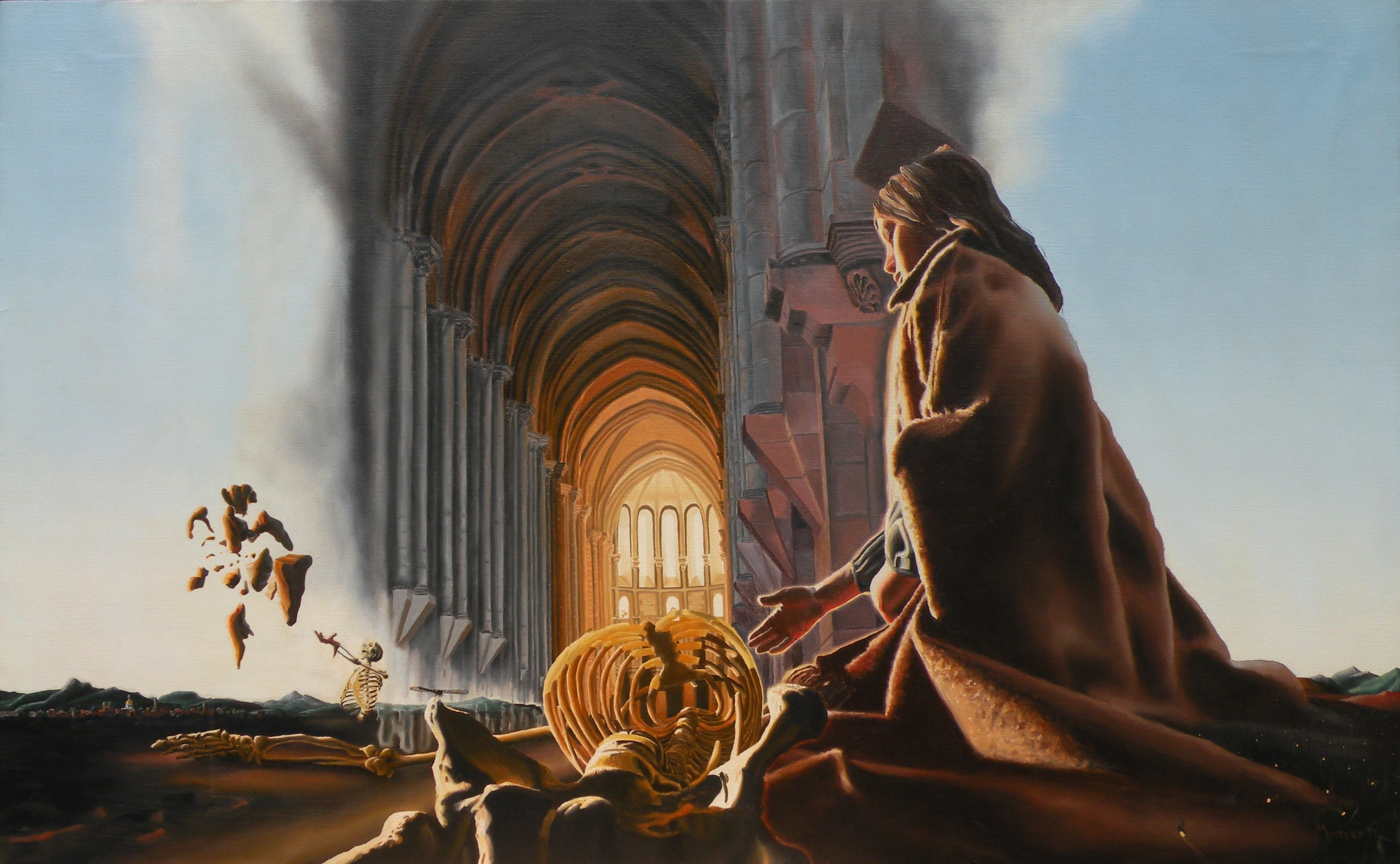 Dave Martsolf, The Cathedral, 1979, Original Painting Oil, size_width{The_Cathedral-1442102530.jpg} X 31 inches