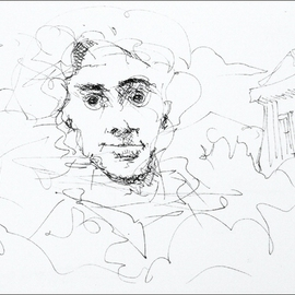 Dave Martsolf, , , Original Drawing Pen, size_width{The_Friend-1458836509.jpg} X 5 inches
