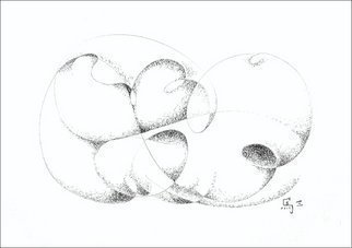 Dave Martsolf, Carnival Surrealism, 2003, Original Drawing Pen, size_width{The_Promise-1458836291.jpg} X 7.5 inches