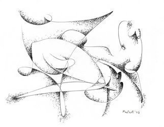 Dave Martsolf, 'The Spider', 2003, original Drawing Pen, 8 x 7  inches. Artwork description: 5475  Abstract or surreal spider concept. Arachne, web, insect, pen and ink drawing. ...