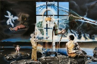 Dave Martsolf, The Windows of Allegory, 1979, Original Painting Oil, size_width{The_Windows_of_Allegory-1442102699.jpg} X 32 inches