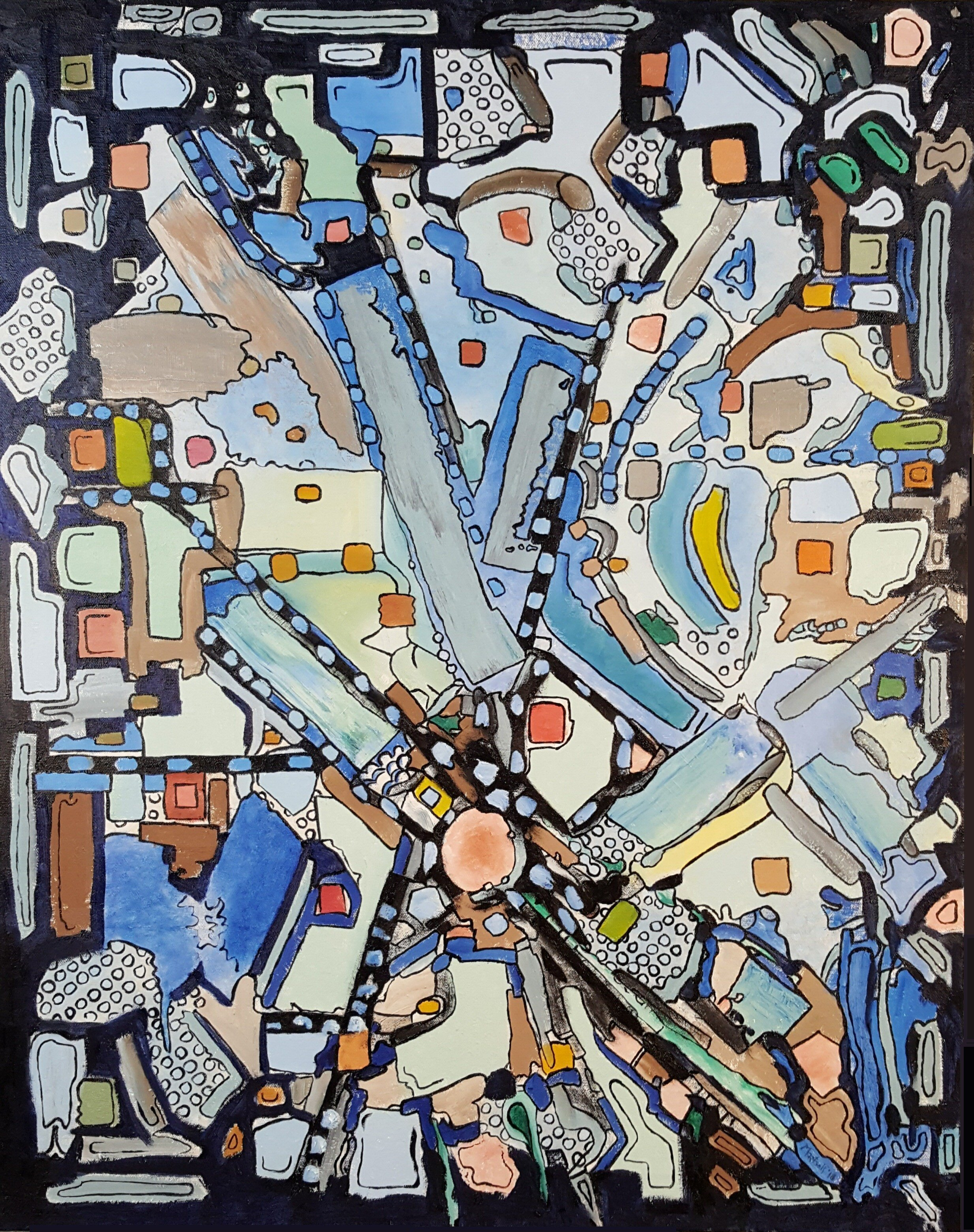 Dave Martsolf, 'Urban Planning', 2018, original Painting Oil, 18 x 24  x 1 inches. Artwork description: 1911 This piece will be shipped unframed on its original stretcher strips...